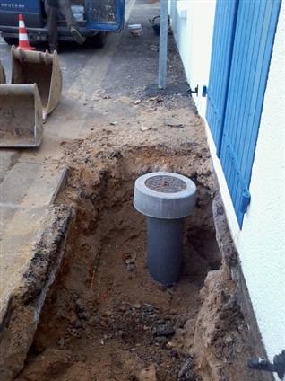 Pose tabouret eau usé par l'entreprise JMRTP 85 440 Talmont Saint Hilaire
