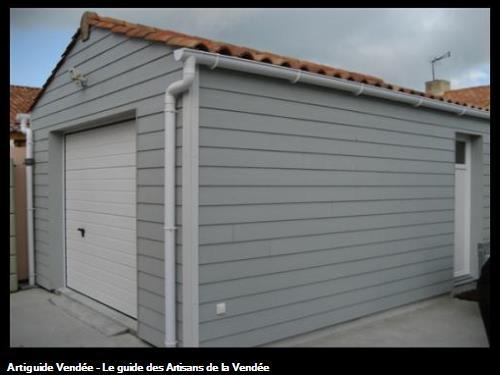 Construction d'un garage à ossature bois cher un particulierCommune de Saint Georges de Pointindoux (85150)