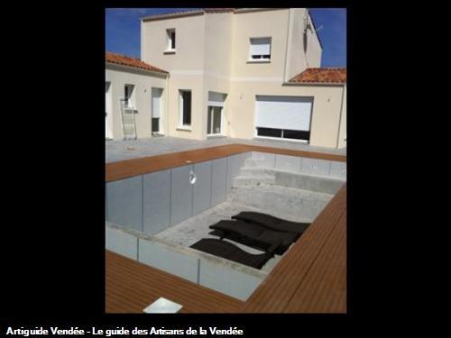 Carrelage piscine imitation bois  Les Sables d'Olonne 85100