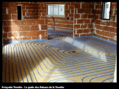 Plancher chauffant basse température - Saint Hilaire de Riez 85270