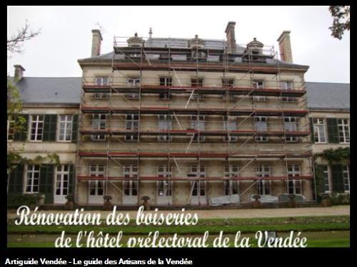 Chantier de l'hôtel préfectoral de la Vendée ou nous rénovons les boiseries .