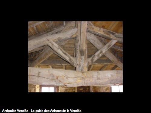 Rénovation charpente dans la commune de la Pommeraie sur sèvre 85700.AVANT