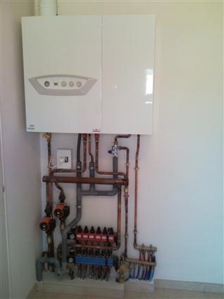 Chaudière gaz condensation avec régulation 2 zones indépendantes