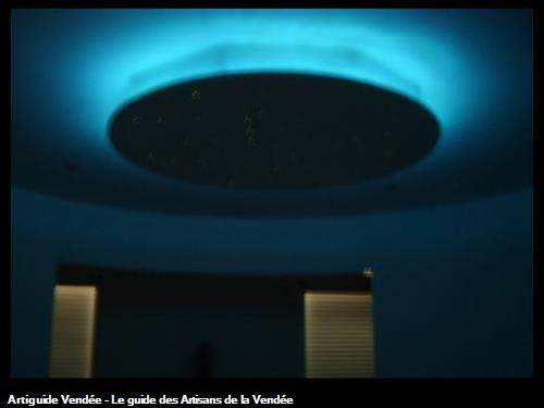 décoration de plafond de nuit à st jean de monts 85160