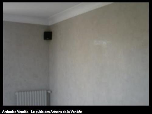 Stucco Calcenova une couleur dans un séjour