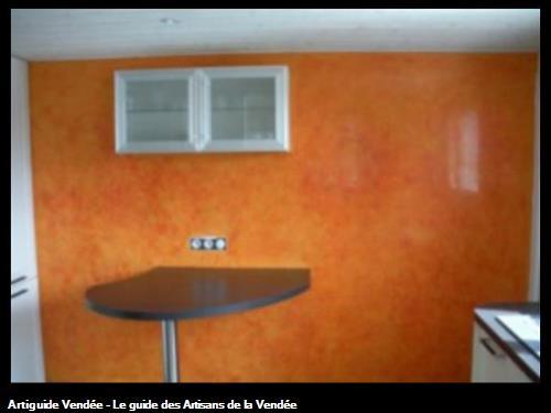 Stucco Vénéziano une couleur en cuisine sur le secteur de Challans 85300