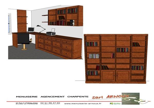 Projet 3D avant réalisation bibliothèque