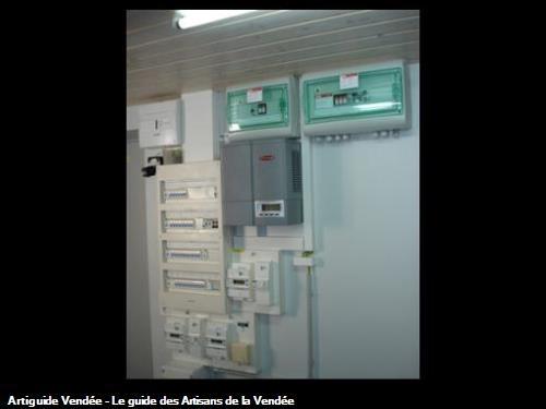 tableau électrique avec système photovoltaique